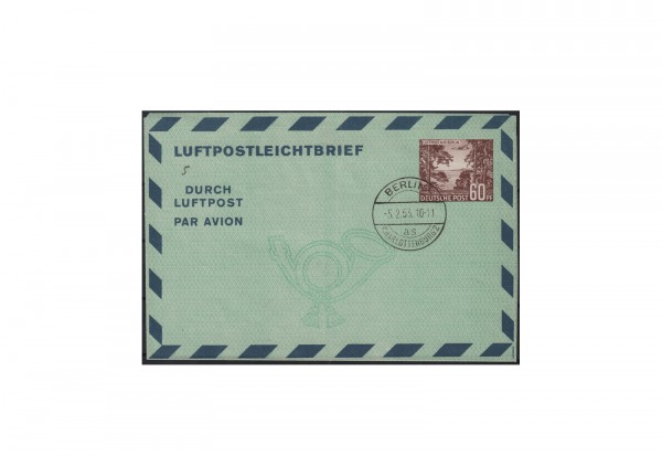 Berlin Luftpostfaltbrief Michel-Nr. 5 gestempelt