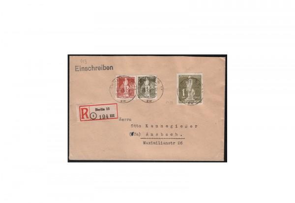 Berlin Michel-Nr. 40 gestempelt MiF echt gelaufener R-Brief