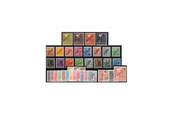 Berlin 1948 bis 1949 Aufdruckserien im Set geprüft gestempelt