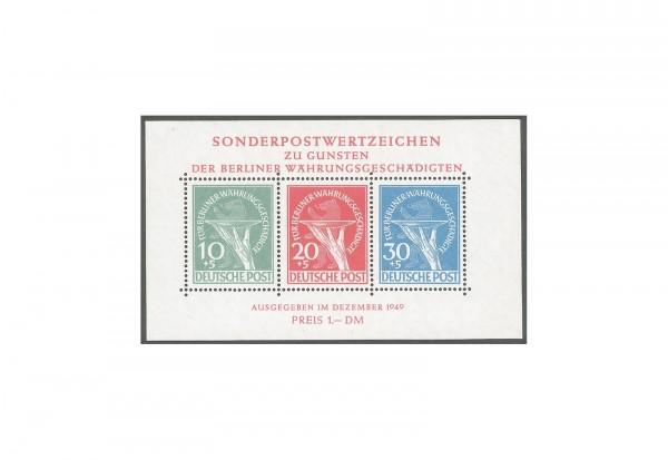 Berlin Block 1 postfrisch Währungsgeschädigten-Block 1949