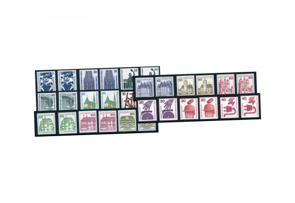 Berlin Briefmarken C/D Werte komplett