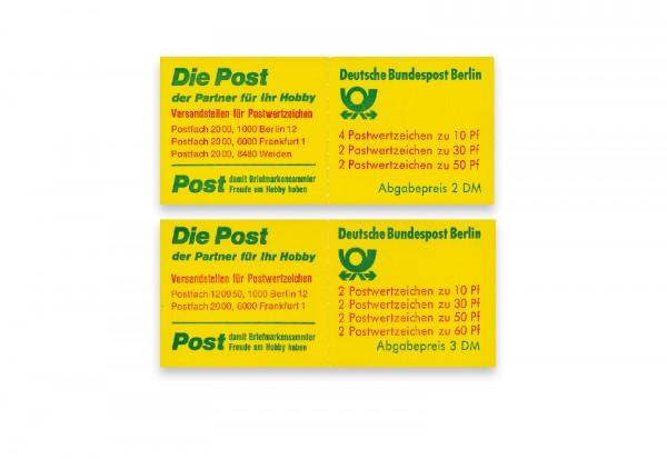 Berlin Markenheftchen-Jahrgang 1980 MH 11+12 postfrisch