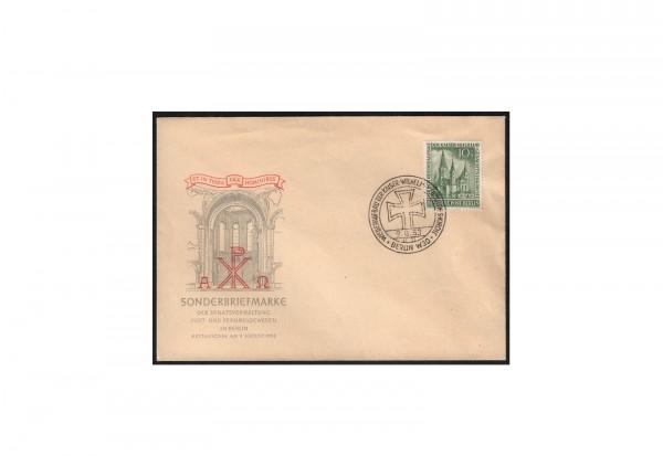 Brief Berlin 10+5 Pfennig auf FDC Michel-Nr. 107 gestempelt