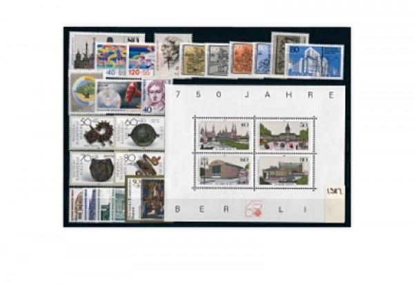 Berlin Mi.Nr. 772-797 Jahrgang 1987 postfrisch 22 Marken + 1 Block