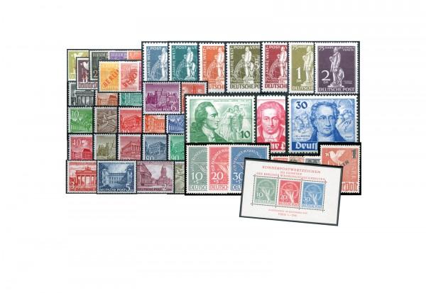 Berlin Jahrgang 1949 Michel Nr. 21 bis 70 inkl. Block 1 postfrisch und Gratis Jahrgang 1948 gp.