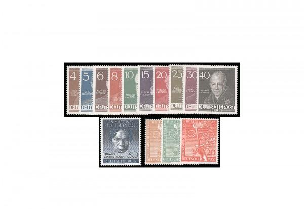 Berlin Jahrgang 1952 gestempelt Michel-Nr. 87/100