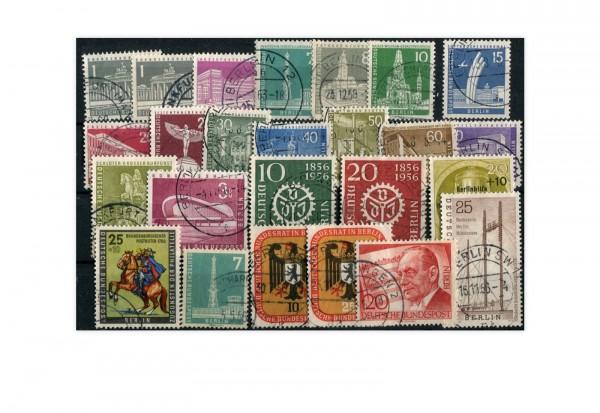 Berlin Jahrgang 1956 gestempelt Mi.Nr.135-158