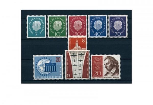 Berlin Jahrgang 1959 Mi.Nr. 182-190 gestempelt