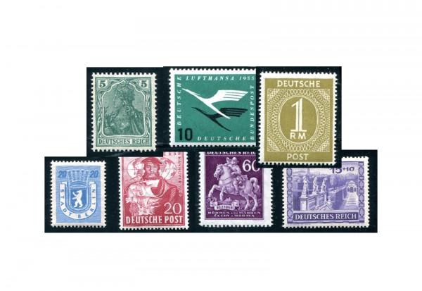 Deutschland Zuschlagsmarken 100 Marken postfrisch und gestempelt