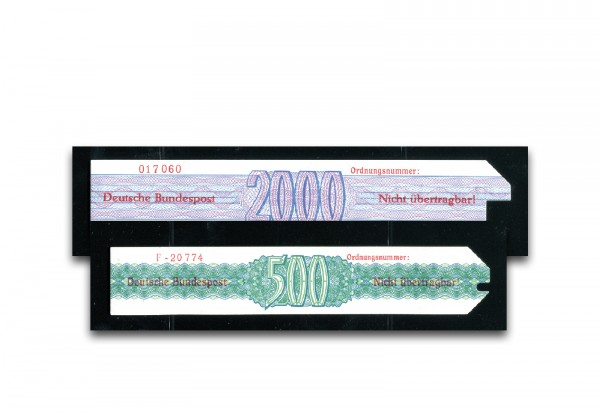 BRD Wertmaschinen-Wertkarte DM-Version 1 Stück