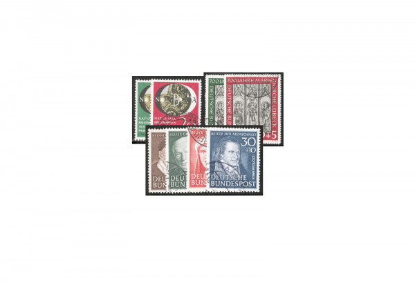BRD Frühausgaben 1951 Michel Nr. 139 bis 146 gestempelt