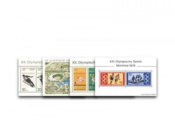 BRD Block-Set Olympia 6, 7, 8 und 12 postfrisch
