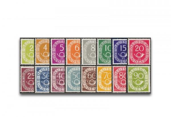 Briefmarken BRD Posthornsatz 1951-1952 Michel-Nr. 123-138 postfrisch Fotoattest