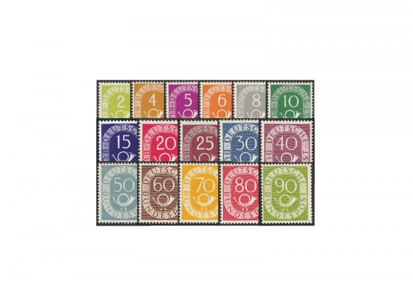 Briefmarken BRD Posthornsatz Michel-Nr. 123-138 postfrisch geprüft Schlegel BPP
