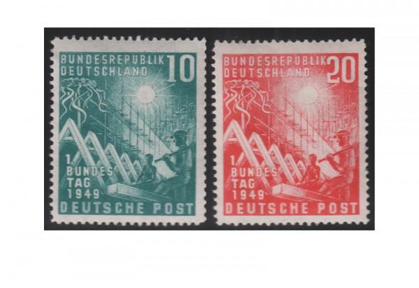 Briefmarken BRD Bundestag 1949 Michel-Nr. 111-112 postfrisch