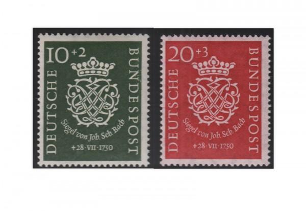 Briefmarken BRD Bachsiegel 1950 Michel-Nr. 121-122 postfrisch
