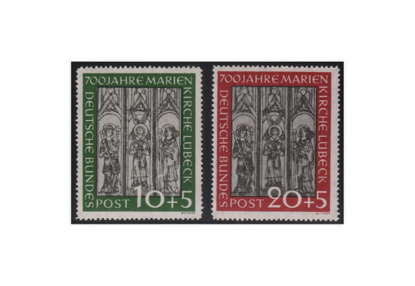 Briefmarken BRD 700 Jahre Marienkirche 1951 Michel-Nr. 139-140 postfrisch