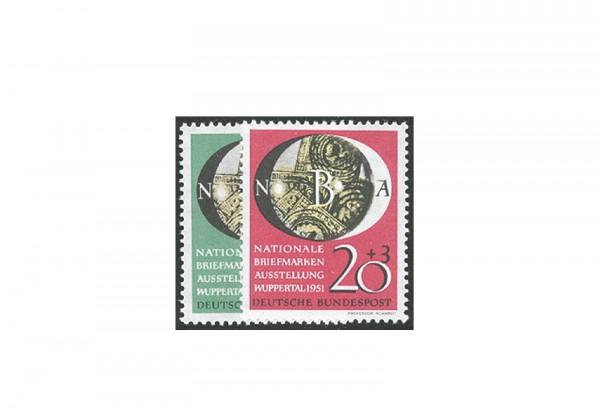 Briefmarken BRD NABA 1951 Michel-Nr. 141-142 postfrisch