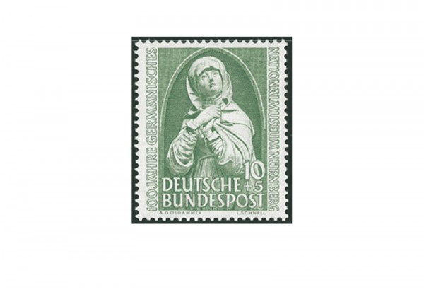Briefmarke BRD 100 Jahre Germanisches Museum 1952 Michel-Nr. 151 postfrisch