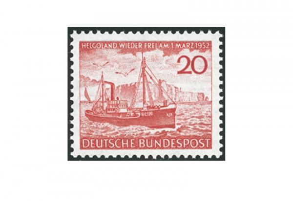 Briefmarke BRD Helgoland 1952 Michel-Nr. 152 postfrisch