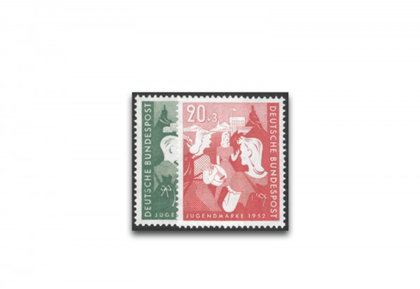 Briefmarken BRD Jugend 1952 Michel-Nr. 153-154 postfrisch