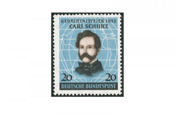 Briefmarke BRD Carl Schurz 1952 Michel-Nr. 155 postfrisch