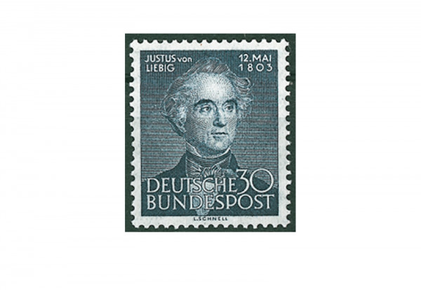 Briefmarke BRD Justus von Liebig 1953 Michel-Nr. 166 postfrisch