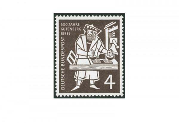Briefmarke BRD 500 Jahre Gutenberg Bibel 1954 Michel-Nr. 198 postfrisch