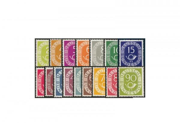 BRD Posthorn Michel Nr. 123 bis 138 postfrisch mit Fotoattest
