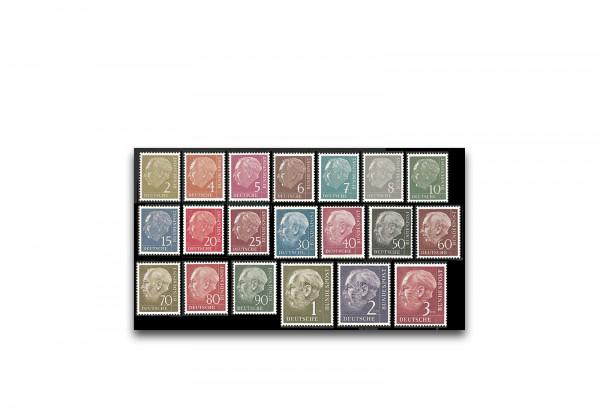 Briefmarken BRD Heuss-Satz 1954 Michel-Nr. 177-196 postfrisch Fotoattest