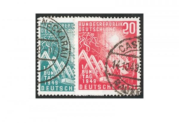 Briefmarken BRD Bundestag 1949 Michel-Nr. 111-112 gestempelt