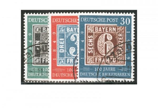 Briefmarken BRD 100 Jahre deutsche Briefmarken 1949 Michel-Nr. 113-115 gestempelt