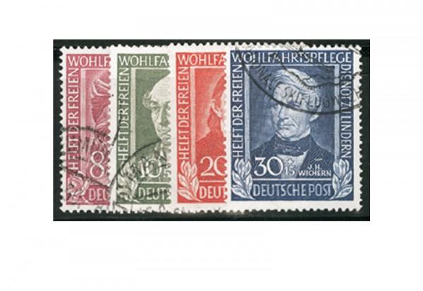 Briefmarken BRD Wohlfahrt 1949 Michel-Nr. 117-120 gestempelt