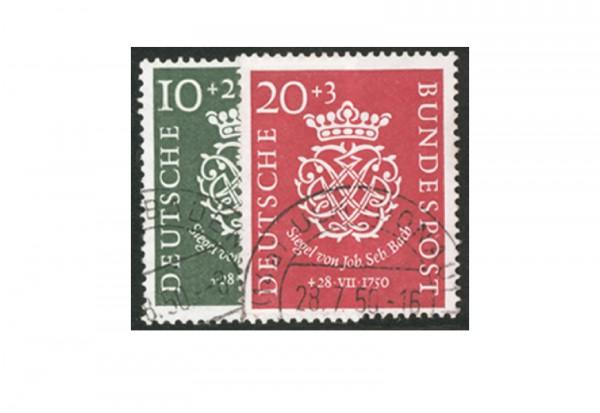 Briefmarken BRD Bachsiegel 1950 Michel-Nr. 121-122 gestempelt