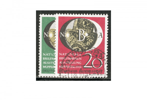 Briefmarken BRD NABA 1951 Michel-Nr. 141-142 gestempelt