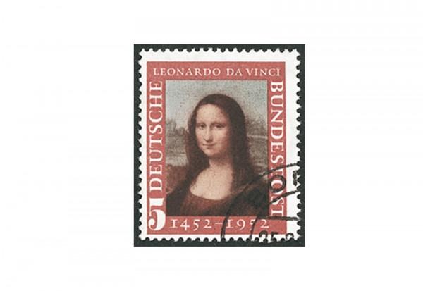 Briefmarke BRD Mona Lisa 1952 Michel-Nr. 148 gestempelt