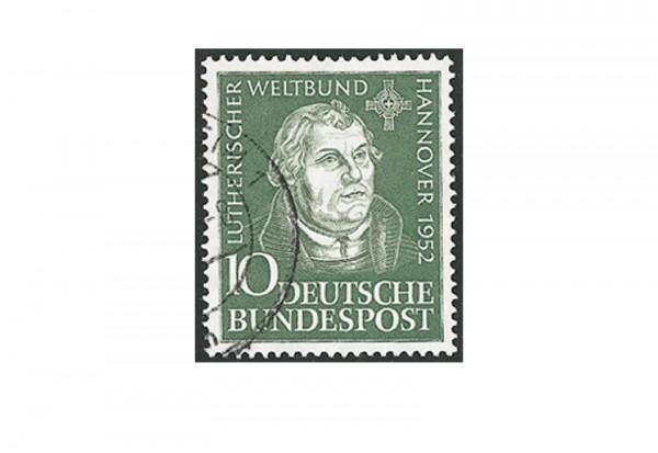 Briefmarke BRD Martin Luther 1952 Michel-Nr. 149 gestempelt