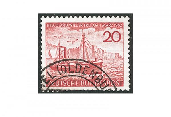 Briefmarke BRD Helgoland 1952 Michel-Nr. 152 gestempelt