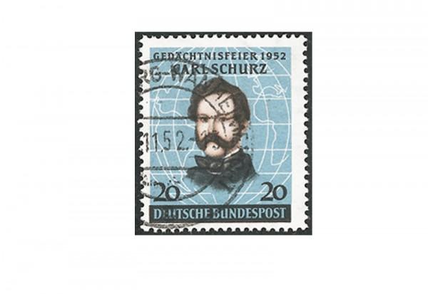 Briefmarke BRD Carl Schurz 1952 Michel-Nr. 155 gestempelt