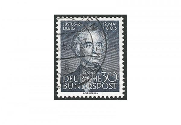 Briefmarke BRD Justus Liebig 1953 Michel-Nr. 166 gestempelt