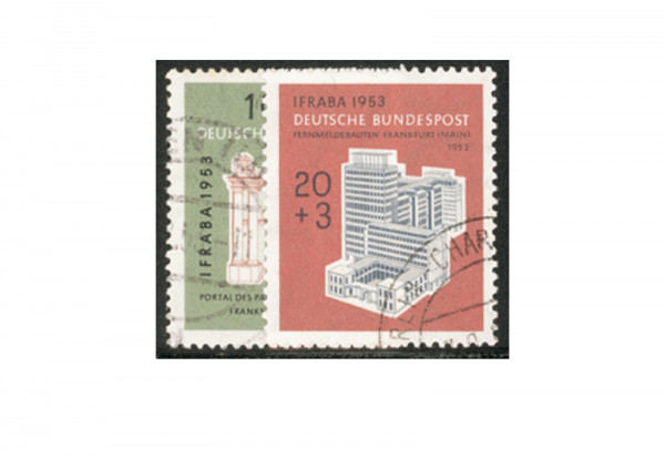 Briefmarken BRD IFRABA 1953 Michel-Nr. 171-172 gestempelt