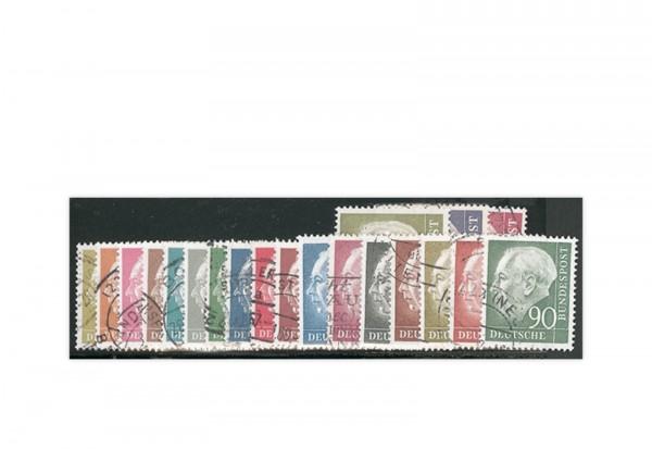 Briefmarken BRD Theodor Heuss 1954 Michel-Nr. 177/196 gestempelt