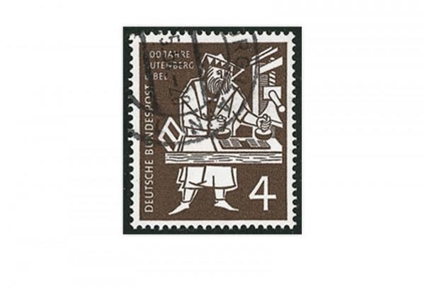 Briefmarke BRD 500 Jahre Gutenberg Bibel 1954 Michel-Nr. 198 gestempelt