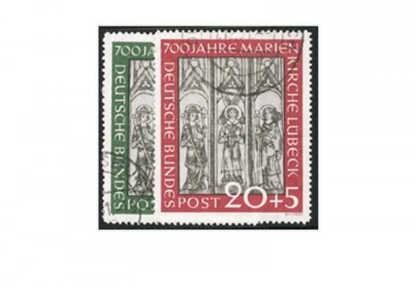 Briefmarke BRD Marienkirche 1951 Michel-Nr. 139-140 gestempelt