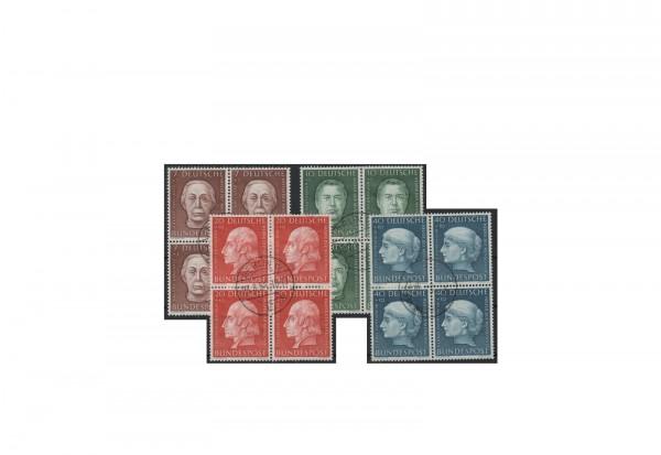 Briefmarken BRD Viererblock Wohlfahrt 1954 Michel-Nr. 200-203 gestempelt
