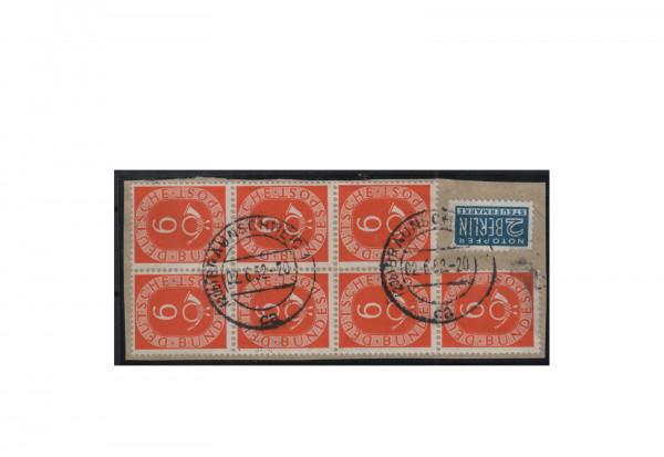 Briefmarken BRD 6 Pfennig Posthorn 1952 Michel-Nr. 126 gestempelt