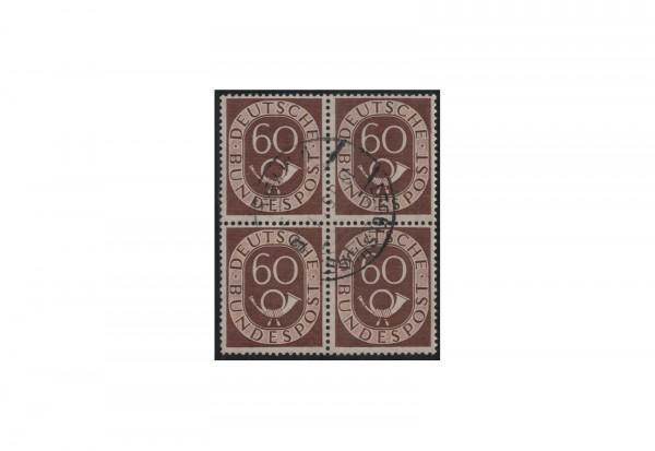 BRD 60 Pfennig im Viererblock Michel-Nr. 135 gestempelt
