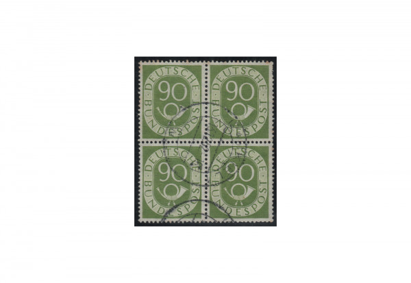 BRD 90 Pfennig im Viererblock Michel-Nr. 138 gestempelt