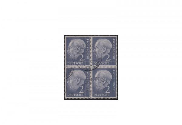 BRD Viererblock Michel-Nr. 195 gestempelt
