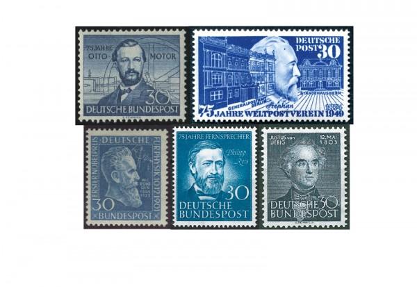BRD Briefmarken Komplett-Set - Die blauen 30er postfrisch